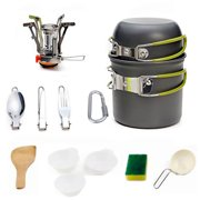 Outdoor Camping Picnic Cookware Set Portable Picnic Stove Cooker Set For 1-2 People