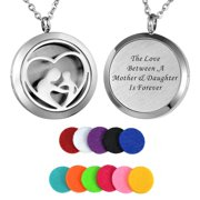 Mother's Love Aromatherapy Perfume Essential Oil Diffuser Round Necklace Locket
