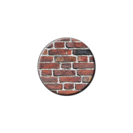 Brick Wall - Bricks Mason Masonry Lapel Hat Pin Tie Tack Small Round