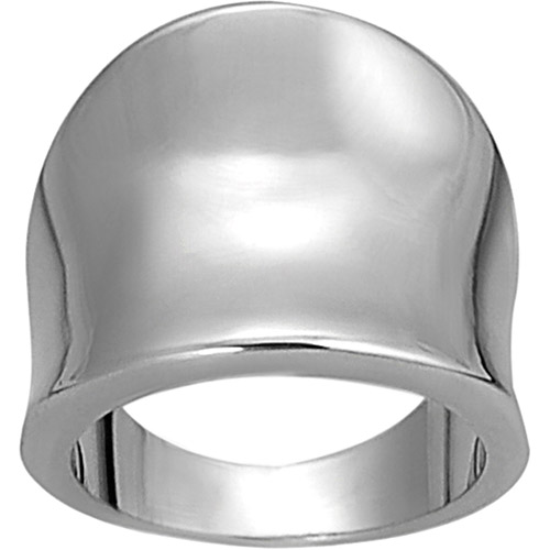 Brinley Co. Tapered Silvertone Ring