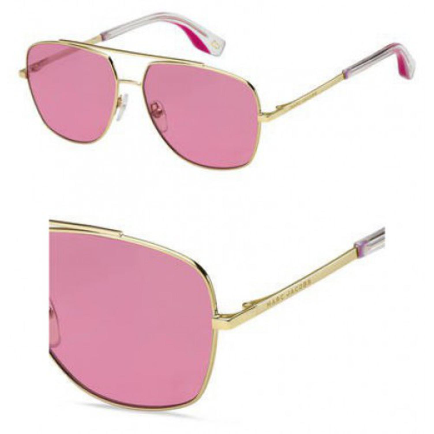 Sunglasses Marc Jacobs 271 /S 0EYR Gold Pink / U1 red lens