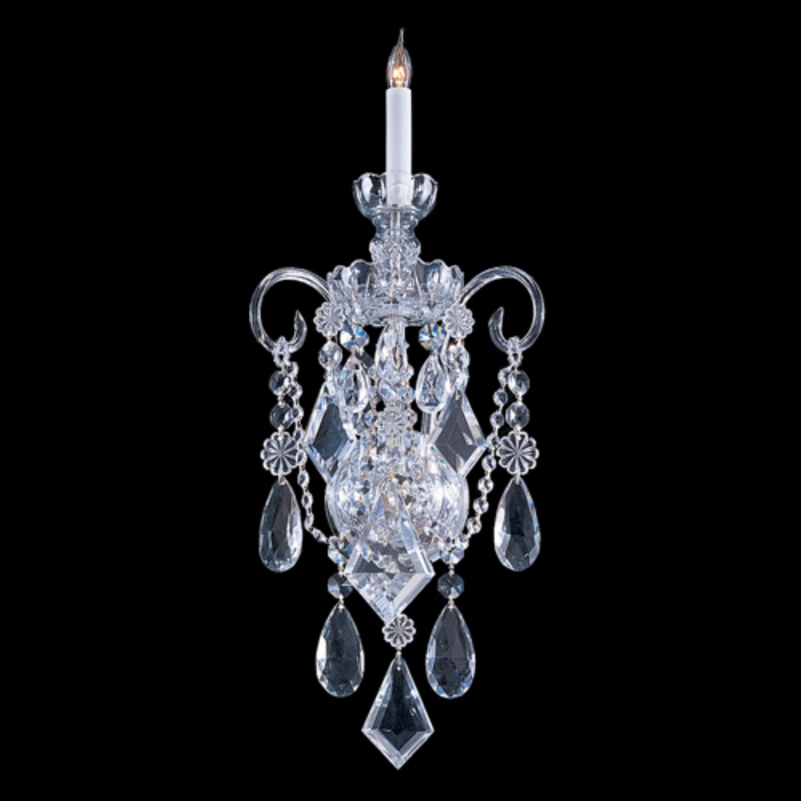 Crystorama 1041-CH-CL-MWP Traditional Crystal Wall Sconce 9.5W in. by Crystorama