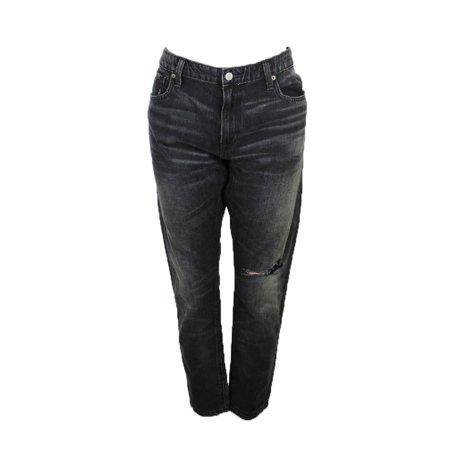 Denim Supply Ralph Lauren Washed Black Grove Skinny Boyfriend Jeans