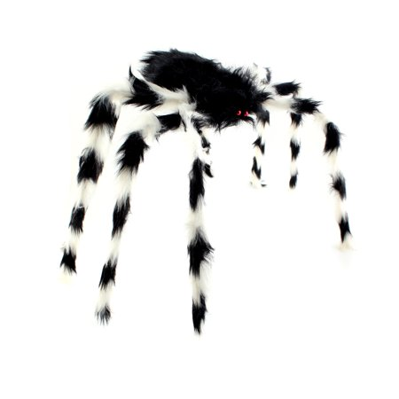 90CM Scary Bendable Realistic Fake Hairy Spider Plush Toys Halloween Party Decoration Prop Display, Random Color