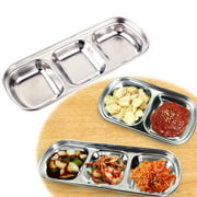 Flmtop Barbecue Dipping Disc Stainless Steel Plate Sauce Seasoning Dish Kitchen Tool