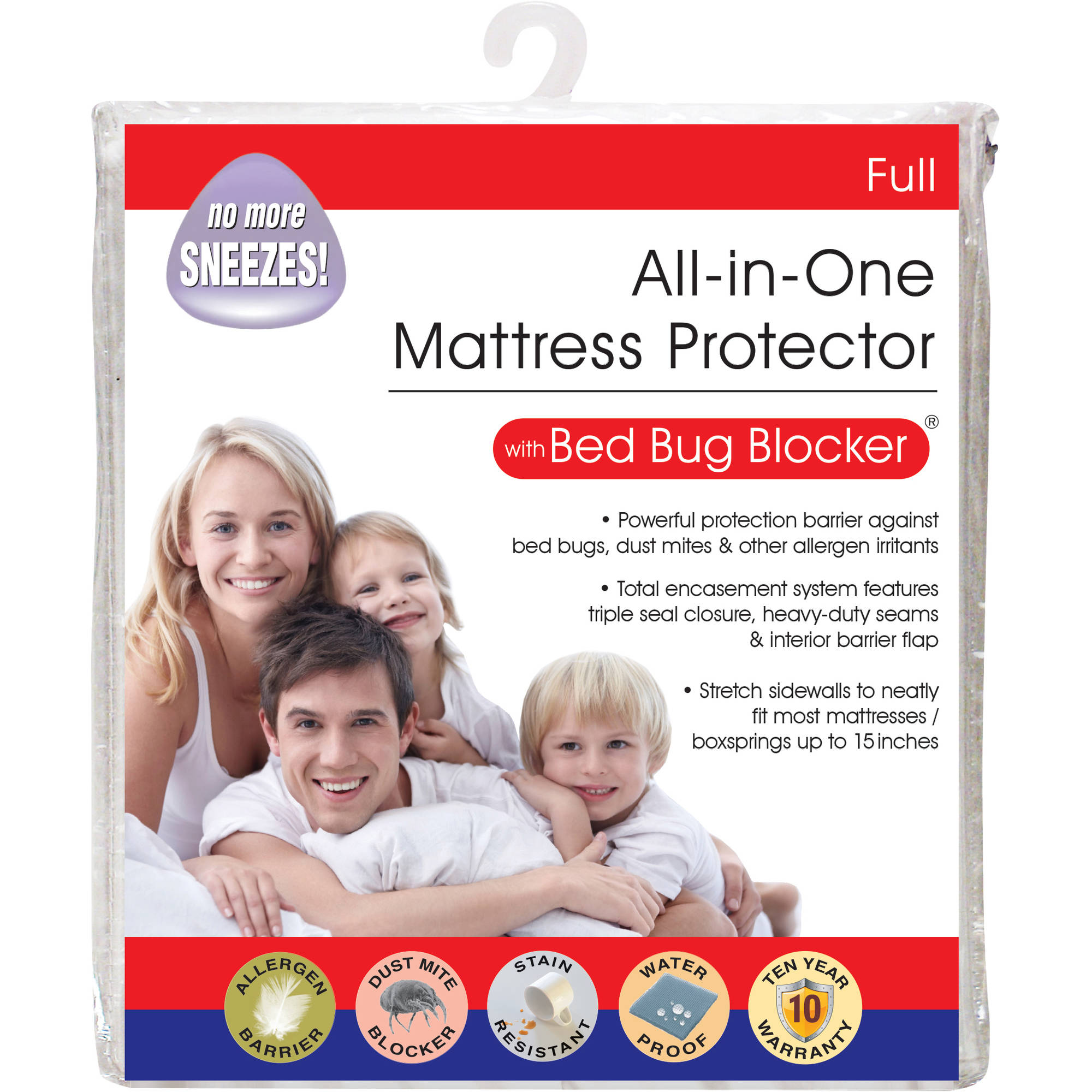 Luxury Cotton Rich Bed Bug Blocker Zippered Mattress Protector - Walmart.com