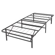 platform metal bed frame foldable no box spring needed mattress foundation queen image 4 of 6 - Platform Metal Bed Frame
