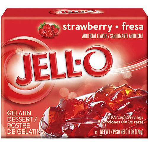 Jell-O Strawberry Gelatin Dessert, 6 oz