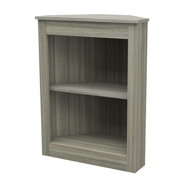 """Inval 31.5"""" 2 Shelf Corner Bookcase, Multiple Colors"""