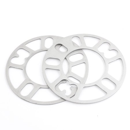 Uxcell 3mm Auto Replaceable Aluminum Alloy  Thick Wheel Spacer Washer (2-pack)