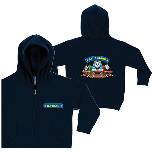 Personalized Thomas & Friends All Aboard Navy Toddler Boy Zip-Up Hoodie