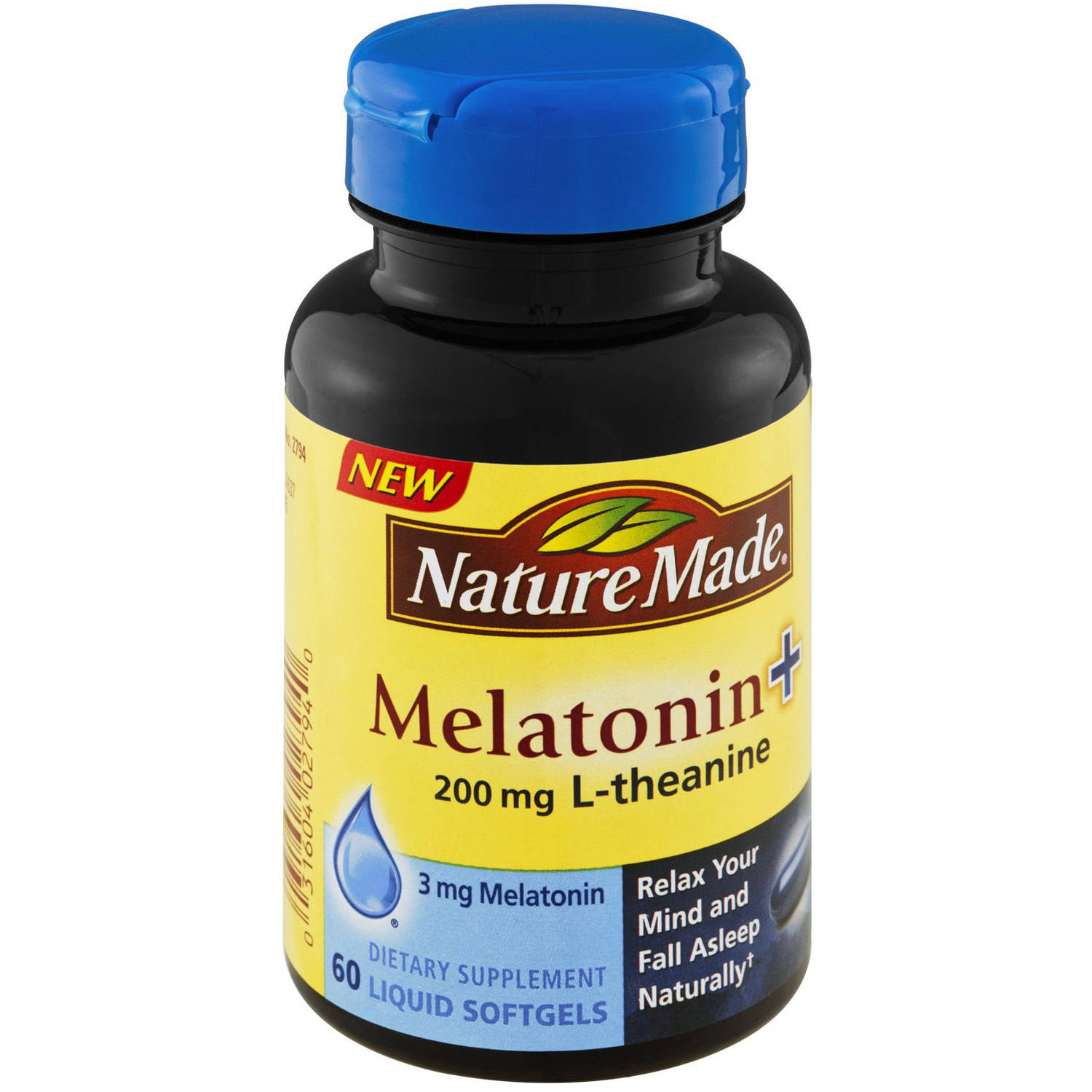 Nature Made Melatonin + L-Theanine 200mg, 60 CT (Pack of 3)