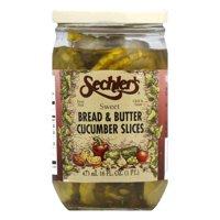 Sechler's Sweet Bread & Butter Slices, 16 OZ (Pack of 6)