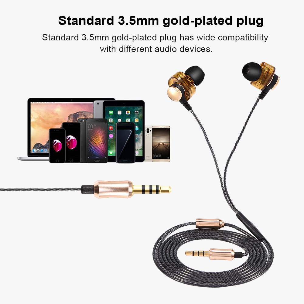 Universal Wired HIFI Deep Bass Earphones In-ear Earbuds with Mic for iPhone/Android Cellphone, headphones, universal earphone