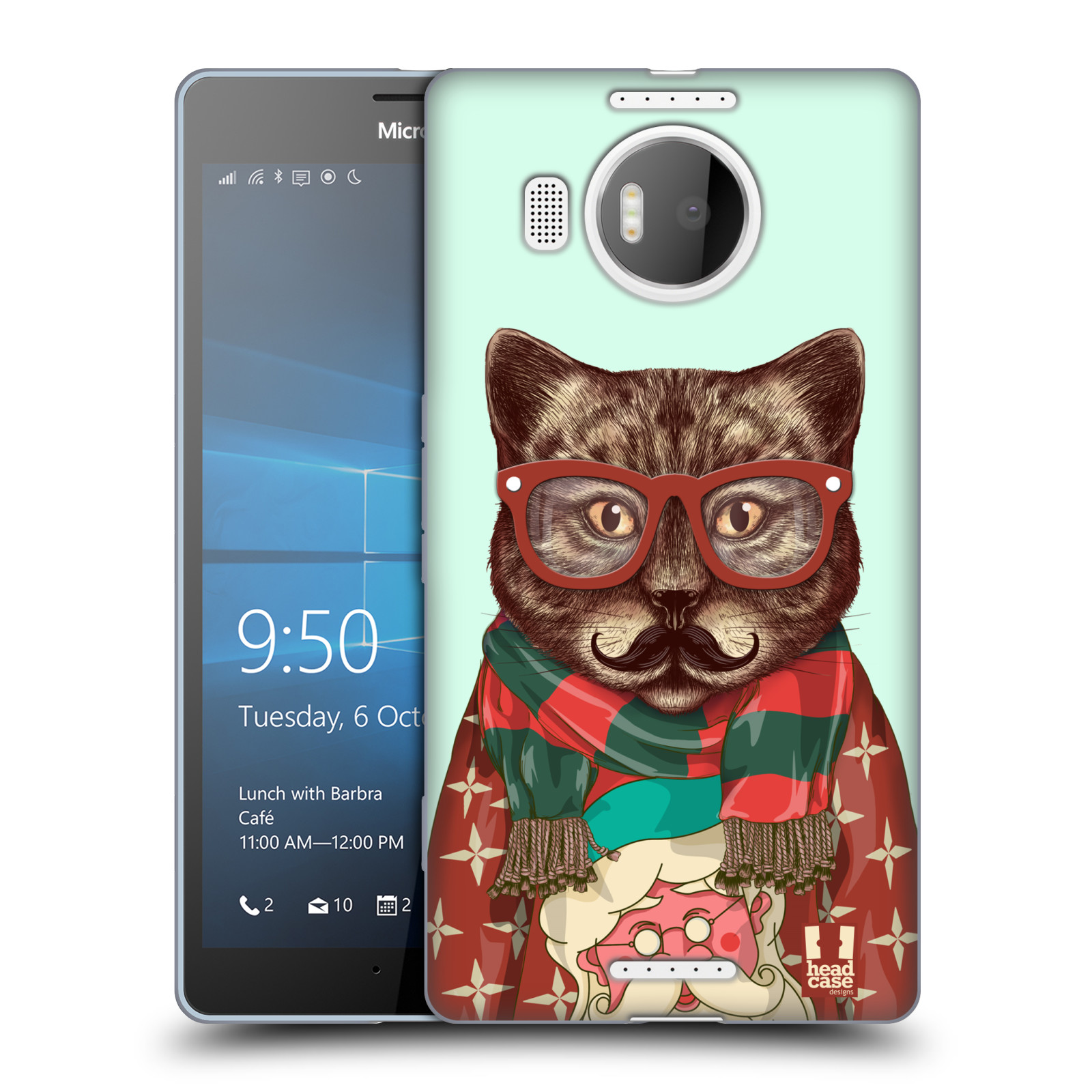 HEAD CASE DESIGNS HIPSTER ANIMALS IN SWEATERS SOFT GEL CASE FOR MICROSOFT PHONES