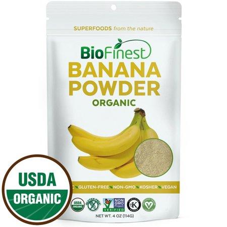 Biofinest Banana Powder   100  Pure Antioxidants Superfood   Usda Certified Organic Kosher Vegan Raw Non Gmo  Boost Digestion Weight Loss   Fresh Fruit For Smoothie Beverage  4 Oz Resealable Bag