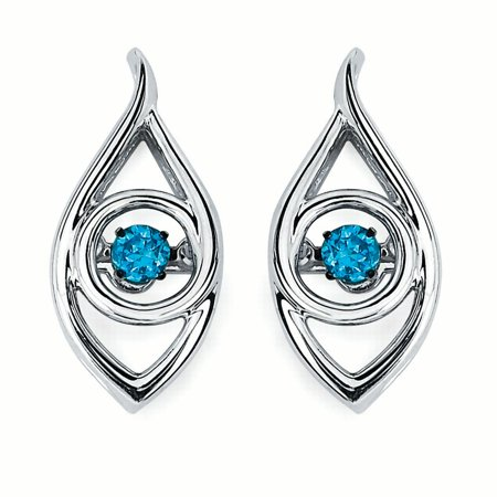 - Iris Earrings in Sterling Silverwith 1/8 Ctw. Diamonds