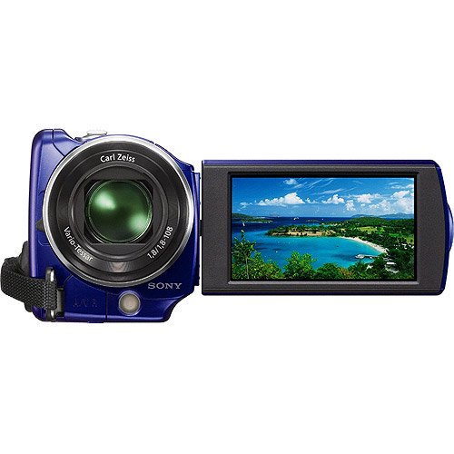 Sony Handycam SR68 Blue 80GB Hard Disk Drive Camcorder w/ 60x Optical Zoom