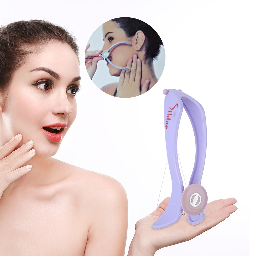 Facial Neck Hair Removel Cotton Threading Epilator Hair Removing Tool with 10 Cotton Lines,Facial Hair Removing Tool,Threading Hair Epilator