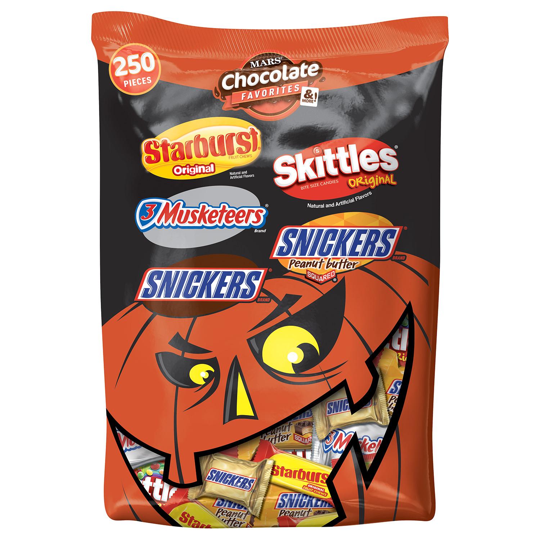 Mars Chocolate, Favorites Halloween Candy Bar Mix, 95.1 Oz, 250 Ct