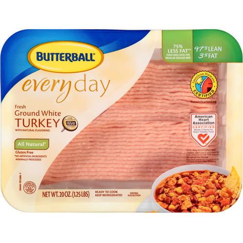 Butterball 97% Lean/3% Fat Everyday Fresh Ground White Turkey, 1.4 lb