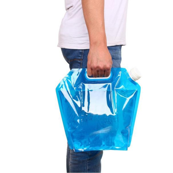 Hight Quality 5L Folding Drinking Water Container Storage Lifting Bag Camping Picnic BBQ