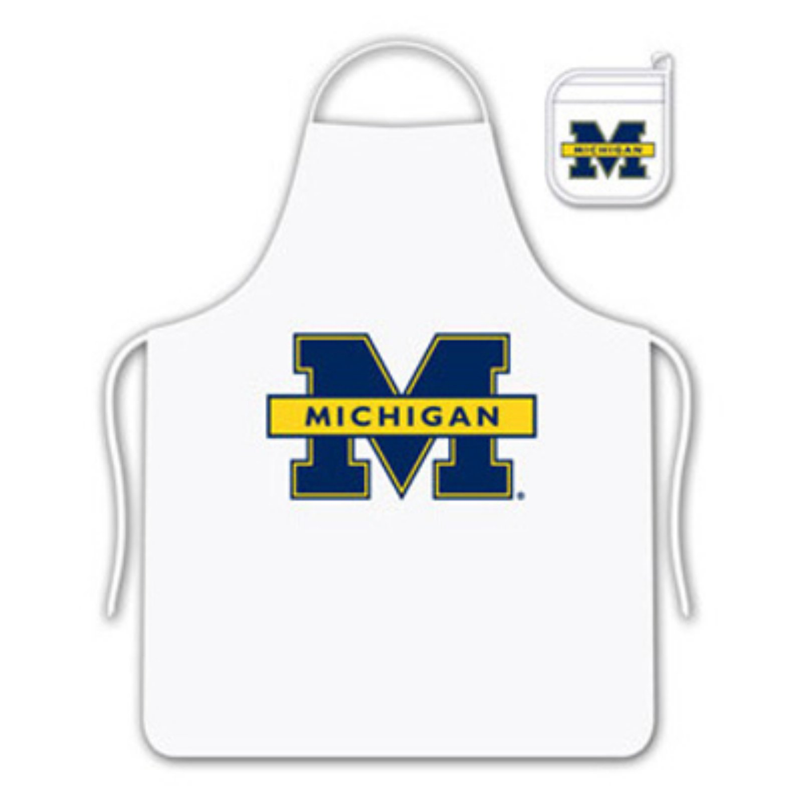 NCAA University of Michigan Tail Gate Kit with Apron and Mitt by Sports Coverage, Inc.