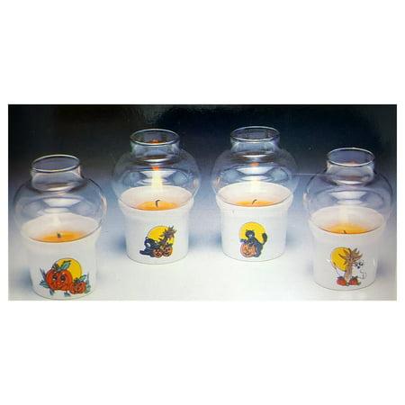 Vintage House of Lloyd Halloween Mini Party Lamps Candle Set Stock No. - Steven Lloyd Halloween