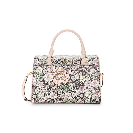 Willow Floral Leather Satchel