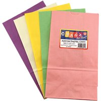 COLORFUL PAPER BAGS SZ6 PASTEL ASSORTED COLORS