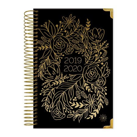 2019-2020 Hard Cover Planner, Gold Embroidery - bloom daily (Daily Planner Plus)