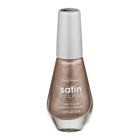 Sally Hansen Satin Glam Nail Color 01 Go Gold, 0.33 FL OZ