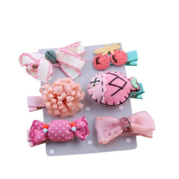 Baby hair clip Set of 3 Cotton hair clips for girls Summer hair bows Boho bows Baby girls accessories Girls hair accessories