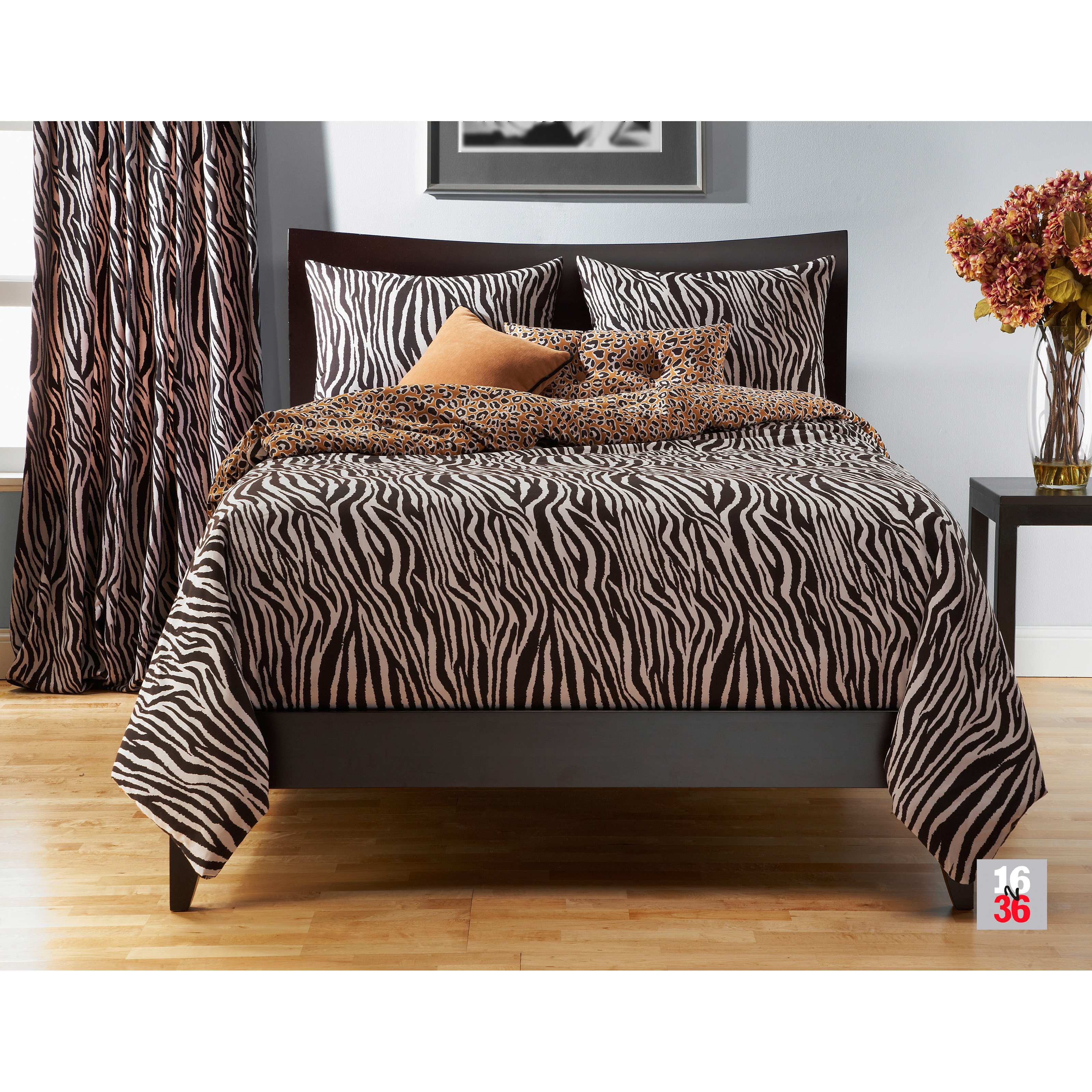 SIS Covers Zebra Zen Duvet Set - California King