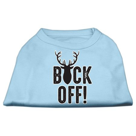 Buck Off Screen Print Dog Shirt Baby Blue Lg (14)
