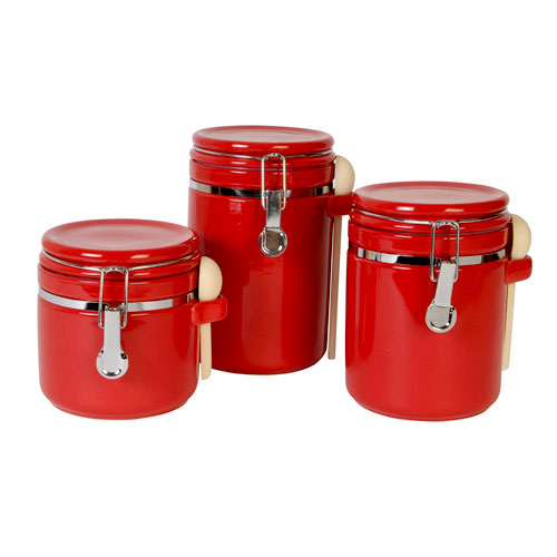 mainstays sensations ii 3pc canister set red walmart com