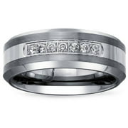 20 carat tw diamond tungsten carbide mens wedding band - Mens Wedding Rings With Diamonds