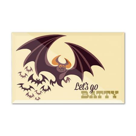 Halloween Bat - Retro Halloween - Lantern Press Artwork (6x4 Acrylic Photo Block Gallery Quality) (Bts Halloween Photos)