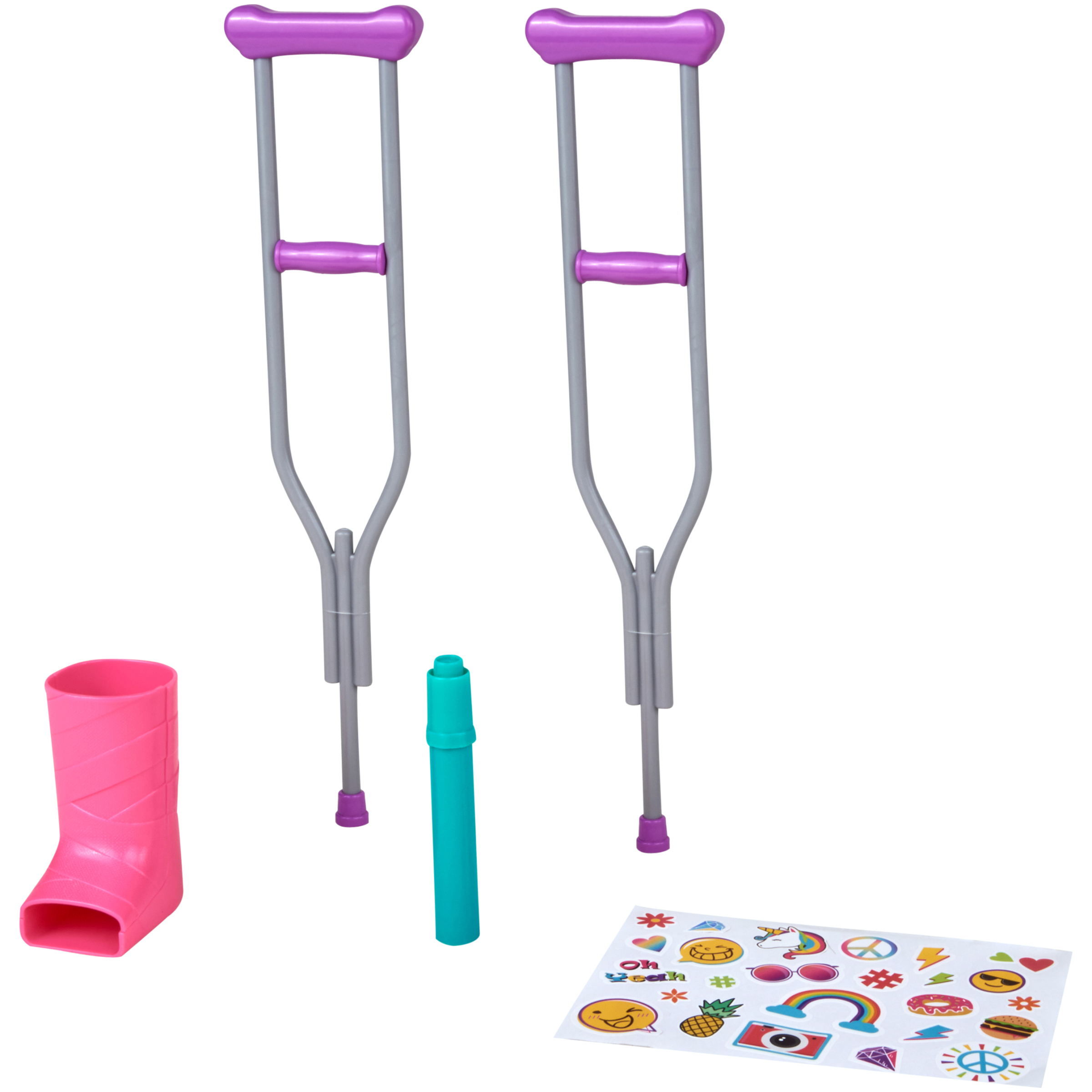 """My Life As 5-Piece Crutch and Cast Accessory Set, for 18"""" Doll"""