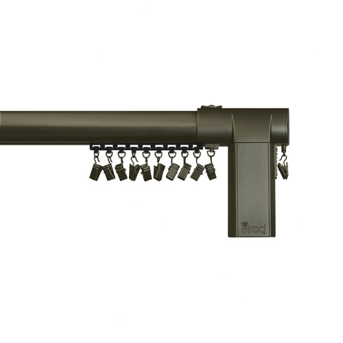 Beme International Motorized Erod Center Open Single Curtain Rod and Hardware Set by Beme.