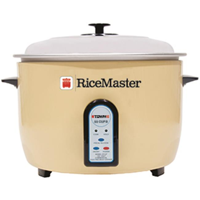 TOWN FOODSERVICE EQUIP Ricemaster Rice Cooker/steamer, Electronic, 55 Cup Capacity, One Touch, Auto Cook/hold, Cooks In