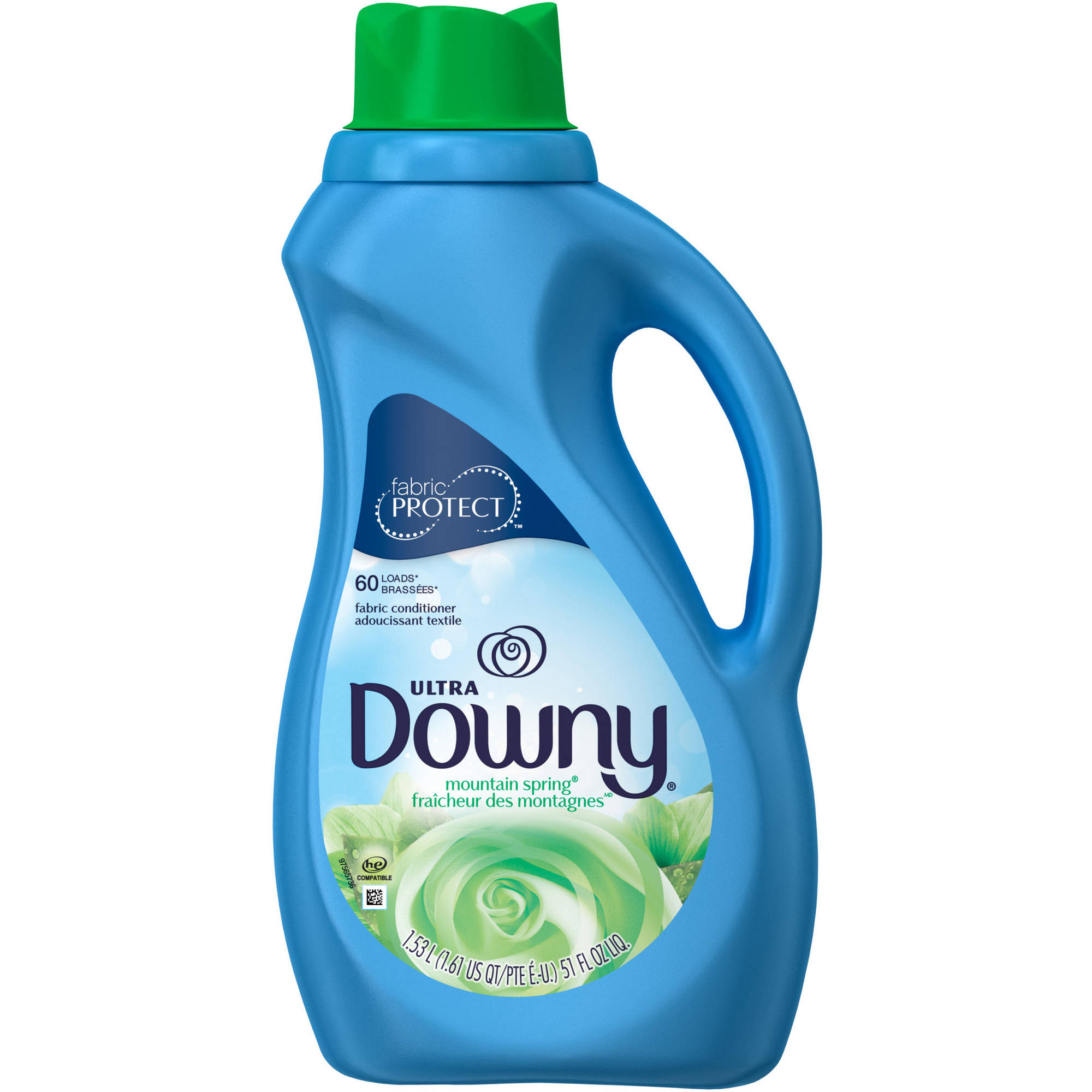 Ultra Downy Fabric Protect Mountain Spring Liquid Fabric Conditioner, 51 fl oz