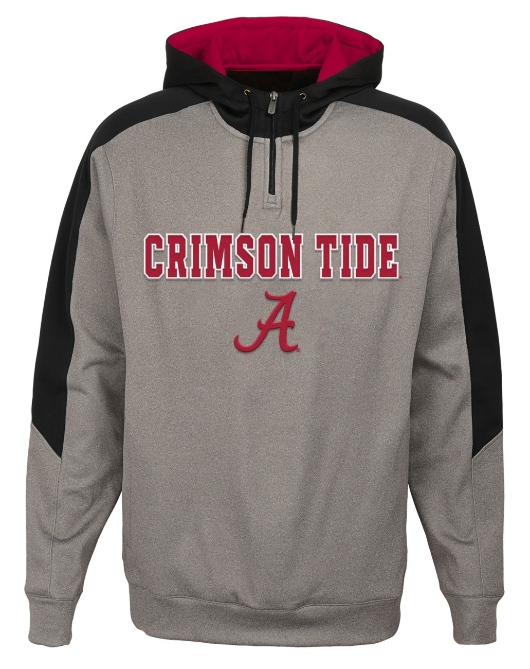 "Alabama Crimson Tide NCAA ""Illustrious"" Men's 1 4 Zip Pullover Hooded Jacket by Gen2"