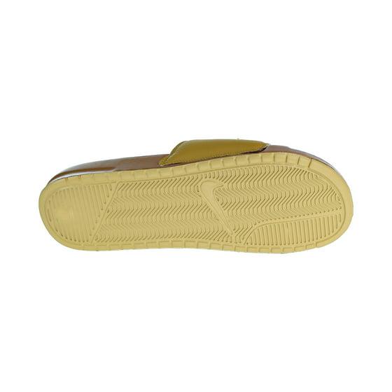 cc9829918b67 Nike - Nike Benassi JDI Chenille Men s Slides Muted Bronzze Club Gold ao2805 -200 - Walmart.com