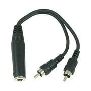 "Hosa YPR-131 Mono 1/4"" (Female) - 2 RCA (Male) Y Cable"