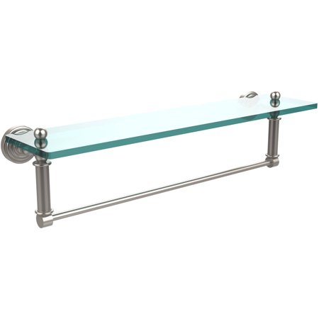 """Waverly Place Collection 22"""" Glass Vanity Shelf with Integrated Towel Bar (Build to Order)"""