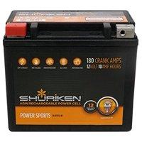 Shuriken Sk-btx12-bs 180 Crank Amps 10ah Agm Powersports 12-volt Battery