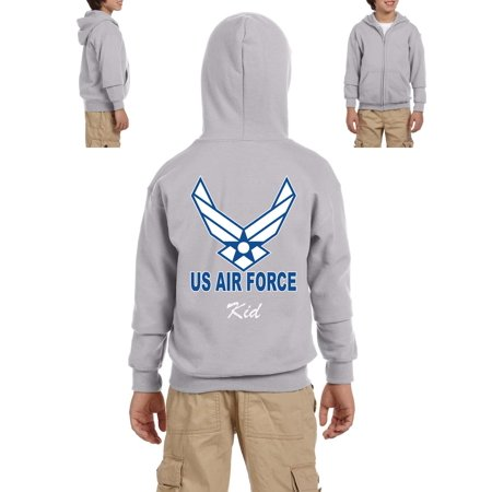 Artix Aim High Fly Fight Win Support USAF Matching Couple Mama Papa Gift For Kids Birthday Xmas Funny Party Heavy Blend Youth Full Zip Hooded Sweatshirt