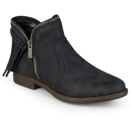 - Women's Fringed Almond Toe Riding Booties