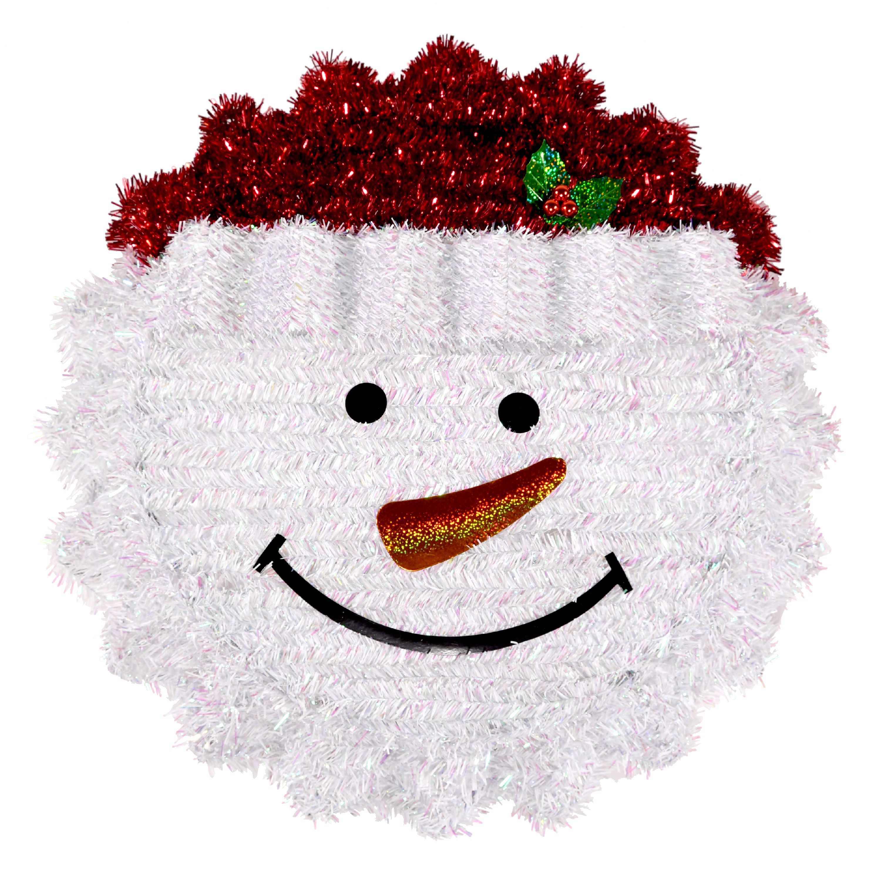 Holiday Time 18 Inch Bottle Cap Snowman Wreath